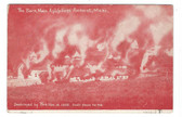 Amherst, Massachusetts Postcard:  1905 Fire, Mass. Agricultural College