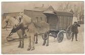 Cedar Lake, Minnesota Real Photo Postcard:  Cedar Lake Ice Company Horse-Drawn Wagon