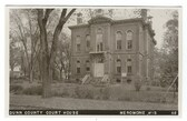 Menomonie, Wisconsin Real Photo Postcard:  Dunn County Court House