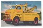 Jasper, Indiana Postcard:  Hoffman Bros. Garage's Wrecker