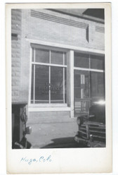 Hugo, Colorado Real Photo Postcard:  U. S. Post Office