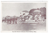 South Sudbury, Massachusetts Postcard:  Allens Country Store Horse-drawn Parade Advertising Float