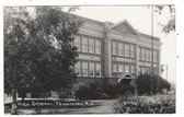 Fennimore, Wisconsin Real Photo Postcard:  High School