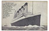Steamer Titanic Ocean Liner Old Postcard