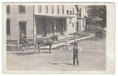 Jay, Maine Real Photo Postcard:  Village Lamp Lighter