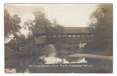 Andover, Maine Real Photo Postcard:  Brickett Covered Bridge