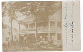 Limerick, Maine Real Photo Postcard:  Limerick House & Stage Coach