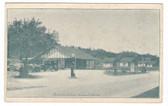 Freeport, Maine Postcard:  Roseland Cabins & Gas Station