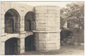 Popham Beach, Maine Postcard Real Photo Postcard:  Courtyard in Fort Popham
