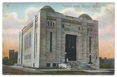 Boston, Massachusetts Postcard:  Temple Israel Synagogue