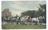Altamont, New York Postcard:  Young Women Campers Hay Ride