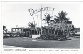 Fort Lauderdale, Florida Real Photo Postcard:  Doumar's Restaurant