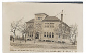 Great Bend, Kansas Real Photo Postcard:  Public School