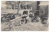 Sylvan Beach, New York Postcard:  The Old Basket Maker