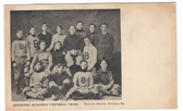 Bridgton, Maine Postcard:  Bridgton Academy Football Team