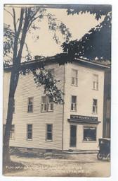 Harrington, Maine Real Photo Postcard:  F. W. Randall Ice Cream Parlor