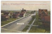 Redfield, South Dakota Postcard:  Bird's Eye View of Burns Street