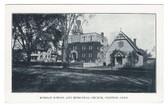 Clinton Connecticut Postcard:  Morgan School & Episcopal Church