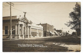 Tyndall, South Dakota Real Photo Vintage Postcard:  West Side Main Street