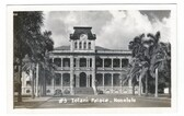 Honolulu, Hawaii Real Photo Postcard:  Iolani Palace