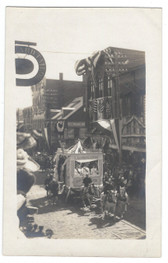 Biddeford, Maine Real Photo Postcard:  Parade on Main Street