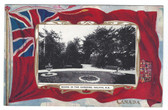 Halifax, Nova Scotia, Canada Patriotic Postcard:  Garden Scene