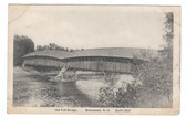 Boscawen, New Hampshire Postcard:  Old Toll Covered Bridge