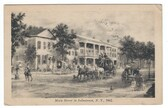 Johnstown, New York Vintage Postcard:  Main Street in 1862