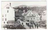 Greenville Junction, Maine Real Photo Postcard:  Downtown Parade