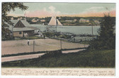 Christmas Cove, Maine Vintage Postcard:  View Including Tennis Court