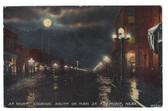 Fremont, Nebraska Vintage Postcard:  Main Street at Night