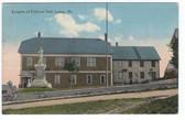 Lubec, Maine Postcard:  Knights of Pythias Hall & Civil War Monument