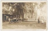 Naples, Maine Real Photo Postcard:  Shady Nook Farm & Old Car