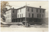 Limestone, Maine Real Photo Postcard:  Kimball Hotel & Old Car