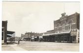 Osawatomie, Kansas Real Photo Postcard:  Main Street