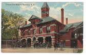 Concord, New Hampshire Vintage Postcard:  Central Fire Station