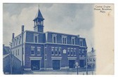 Brockton, Massachusetts Postcard:  Central Engine House Fire Station