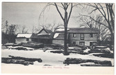 Harding, Massachusetts Postcard:  Old Lumber Mill in Winter