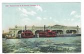 Camden, New Jersey Postcard:  Pennsylvania Railroad Ferries