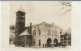 Barre, Vermont Real Photo Postcard:  Fire Station