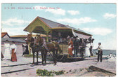 Block Island, Rhode Island Postcard:  Electric Horse Trolley Car