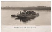West Sullivan, Maine Real Photo Postcard: Waukeag Ferry