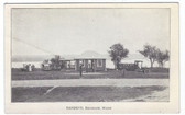 Belgrade, Maine Postcard:  Dandevu Tea Room & Gas Station