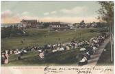 Squirrel Island, Maine Postcard:  Baseball Game at Squirrel Inn