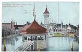 Nantasket Beach, Massachusetts Postcard:  Paragon Park Band Stand & Tower