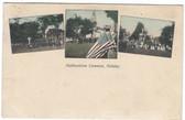 Hubbardston, Massachusetts Postcard:  Patriotic Holiday
