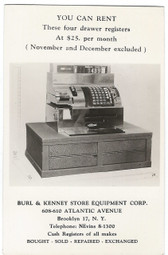 Brooklyn, New York Real Photo Postcard:  Cash Register Advertising