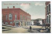 Eastport, Maine Postcard:  Masonic Block, Elks Club, & Coca-Cola
