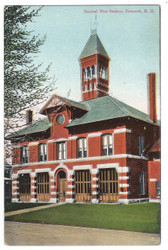 Concord, New Hampshire Postcard: Central Fire Station