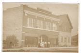 Lusk, Wyoming Real Photo Postcard:  Harmony Masonic Lodge